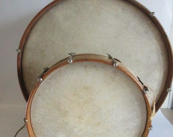 1920's Antique Bass Snare Drums and accessories