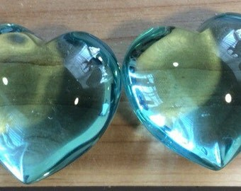 Blue Obsidian Puffy Heart, 45 mm,  Tumbled Stone, Reiki Infused, Healing Crystal, Spiritual Stone, Meditation, Tumbled stone