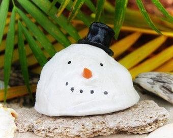 Melted Snowman Tropical Christmas Ornament Christmas Decoration Snowman ornament Christmas gift Hanukkah gift Cute funny Snowman Decor