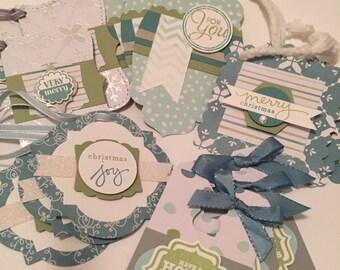 Set of 15 christmas gift tags