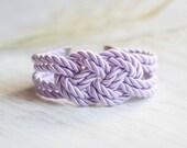 Lilac Bracelet, Sailor Knot, Knot Bracelet, Rope Bracelet, Rope Knot Bracelet,Nautical bracelet,Knot,Nautical Knot,Friendship,Lilac,Pastel