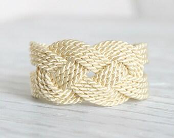 Sailor Knot Bracelet, Ivory Bracelet, Ivory Knot Bracelet, Rope Bracelet, Sailor Knot, Rope Knot Bracelet,Nautical Bracelet,Nautical Knot,NT