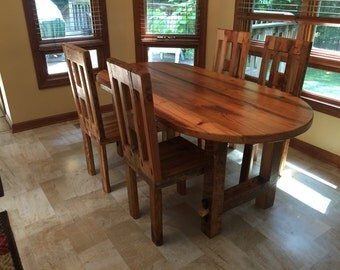 Reclaimed Wood Oval Table