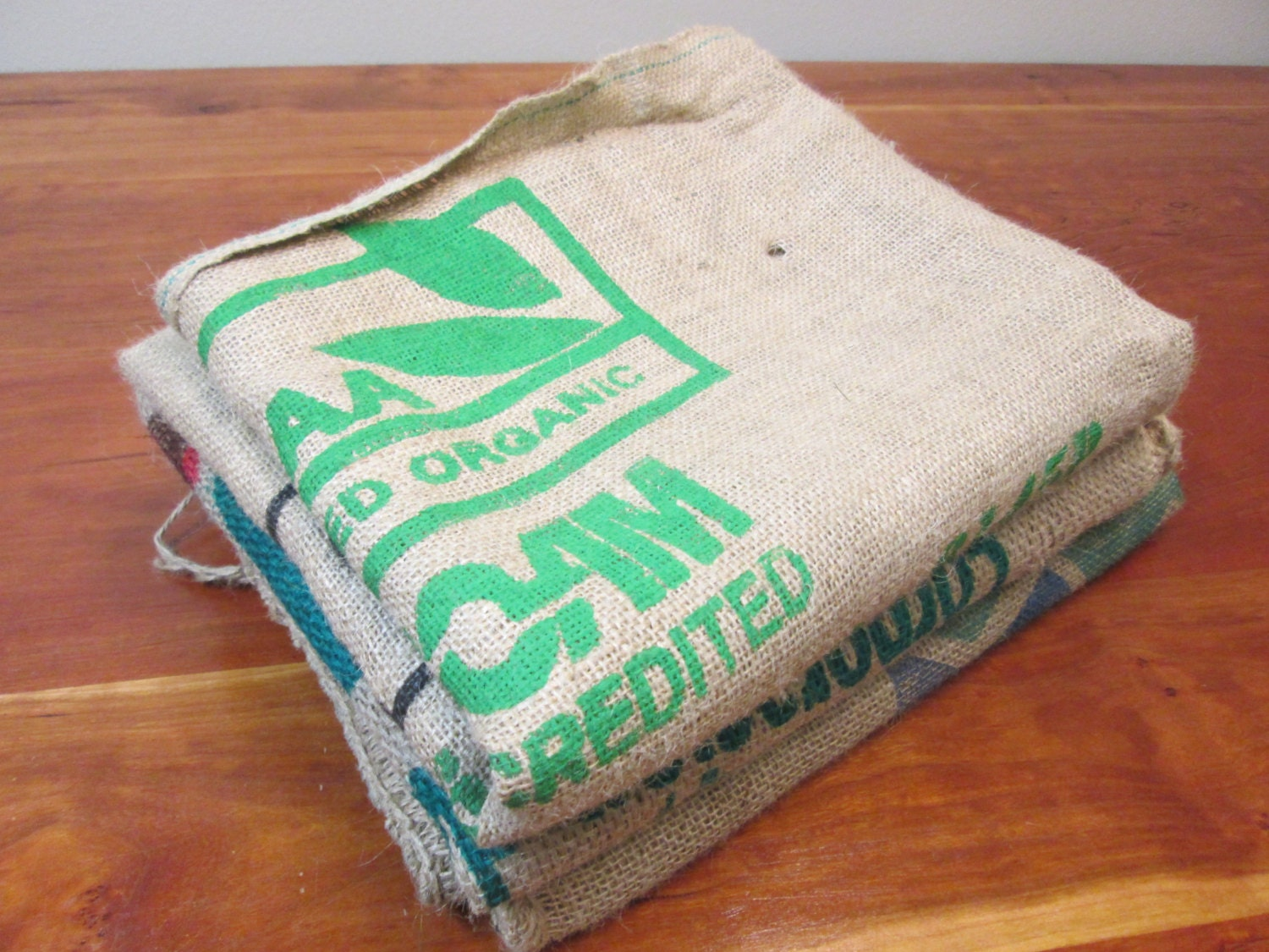 burlap coffee bags 3 burlap coffee sacks coffee bags by