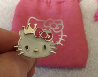 Silver and enamel Hello Kitty Ring