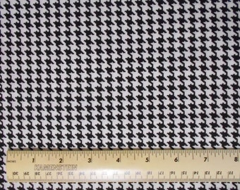 Black and White Houndstooth Fabric