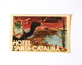 RARE Vintage Hotel Santa Catalina, in Las Palmas, Canarias (Canary Islands).
