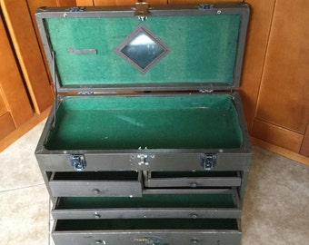 Vintage Industrial Machinist Chest, 7 Drawer, Great for Display