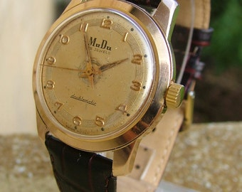 Gents 1950s MuDu Doublematic wrist watch