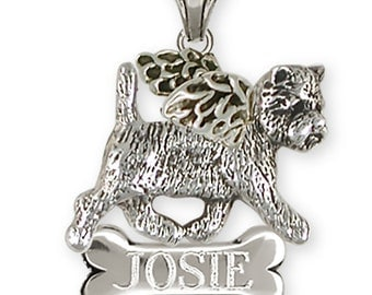 Personalized Westie West Highland White Terrier Angel Pendant Jewelry  WCN1A-NP