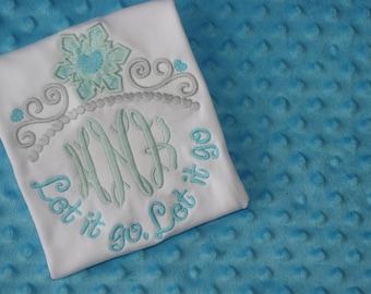 Princess Tiara Monogrammed Shirt- Elsa- Embroidery