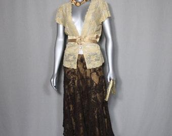 Brown Lace BoHo Skirt