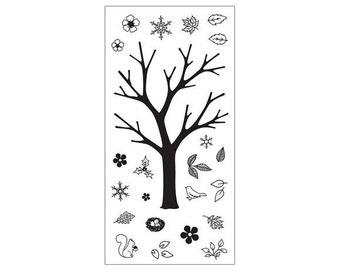 """Fiskars 4"""" x 8"""" Clear Stamp Set - BUILD A TREE 1.cc02 CS011"""