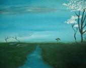 original painting Acrylic Landscape CANVAS ART