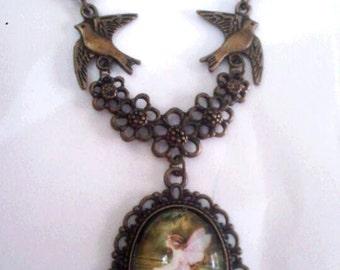 fairy necklace pendant cabochon