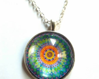mandala zen picture pendant necklace zen mandala