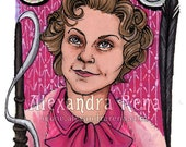Original ACEO Dolores Umbridge Chocolate Frog Card