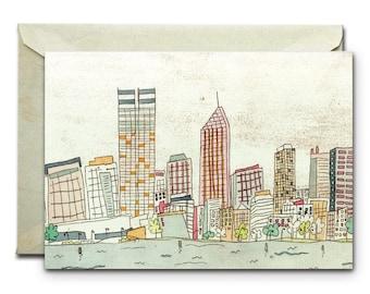 Perth - Greeting Card
