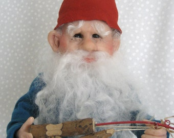 A Fine GNOME, Indeed !! Heirloom Doll by Terry Richards
