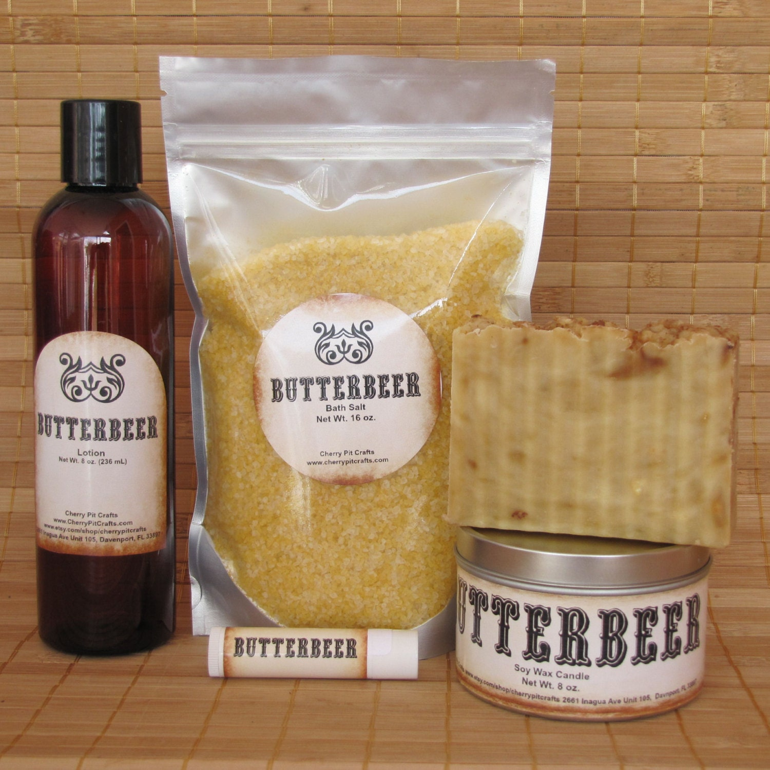 Harry potter themed butterbeer gift set bath by
