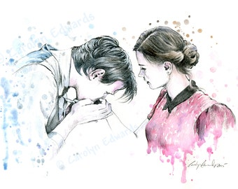 DOCTOR WHO - Clara and her Doctor. A4 Art Print (29.7 x 21cm)