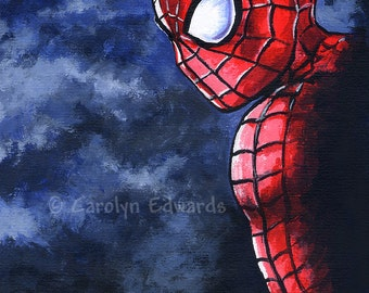 SPIDERMAN ~ 4 x 6 inch Mounted Print