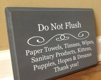 Bathroom Signs Toilet Paper Only this home uses a septic system flush toilet paper only trash