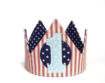 Boy First Birthday Crown - First Birthday Crown - First Birthday Hat