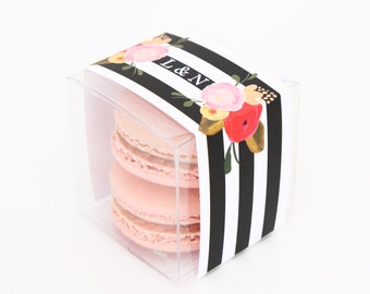 Personalized Roses and Stripes Favor Box