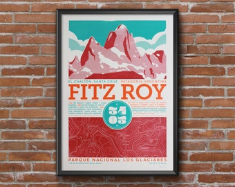 Fitz Roy silkscreen prints