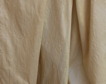 "SILK DUPIONI Piece- Khaki - 54"" Wide x 66.6"" Long"