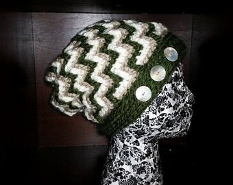 Falling Cables Hat Beanie or Slouchy