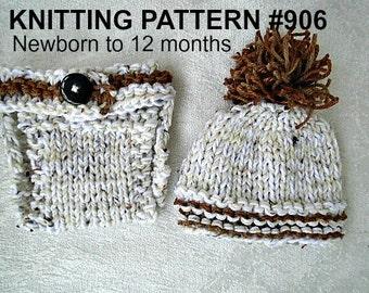 Knitting Pattern Baby Hat 12 Months : Knit newborn baby hat pattern Etsy