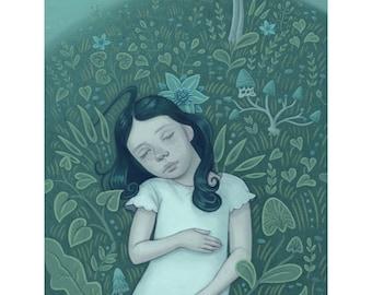 Moon Flora Art Print