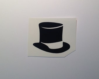 DIY Top Hat or  Bow Tie or Suspenders Vinyl Decals Make Your Own Wine Glasses or Beer Mugs