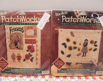 Bucilla Patchworks Applique Quilting Kits How Does Your Garden Grow? 17 x 14 and Friends 13 x 16 NIP Wall Quilt or Hanging Sold Individually