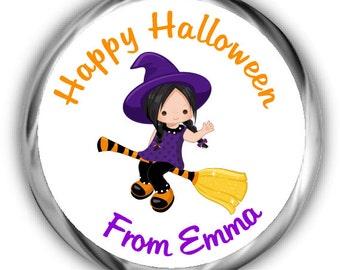 Halloween Stickers   Witch Halloween Stickers   Personalized Halloween Sticker - Many Sizes