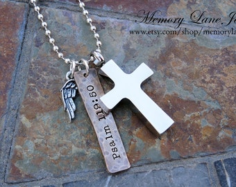 Men's Urn Necklace Jewelry - Cremation Necklace Jewelry - Religious - Ashes Necklace Jewelry - Memorial Cremains Jewelry - Dad, Father, Son