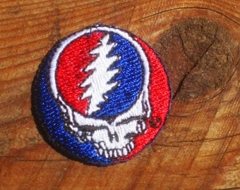 Vintage 80s Grateful Dead Steal Your Face Iron-On Patch