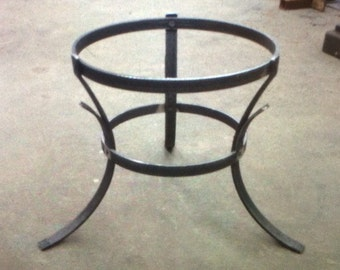 Hand made steel planter stand