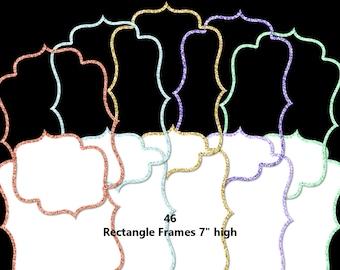 92 Glitter Bracket Frames   23 Colors   Digital Clipart Instant Download