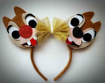 Chip and Dale inspired Minnie Mouse Ears