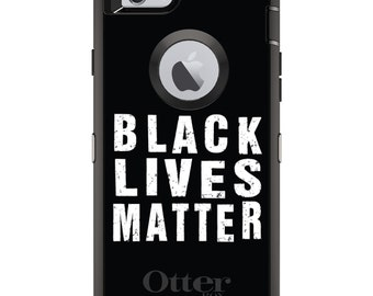 Black Lives Matter OtterBox Defender / Apple iPhone OR Samsung Galaxy / Black White / Custom Personalized Monogrammed / Any Color / Any Font