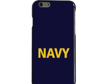 Hard Snap-On Case for Apple 5 5S SE 6 6S 7 Plus - CUSTOM Monogram - Any Colors - Yellow Navy