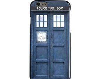 Hard Snap-On Case for Apple 5 5S SE 6 6S 7 Plus - CUSTOM Monogram - Any Colors - TARDIS Call Box Photograph