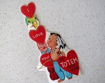 60% OFF Mid Century Totem Valentine's Day Children's Classroom Card