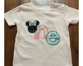 Minnie mouse first birthday shirt