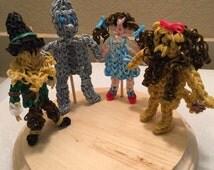 Wizard of Oz figurine, Dorothy, Wicked Witch, Tin Man, Scarecrow, Glinda, Ornaments, Stockings, Gift.