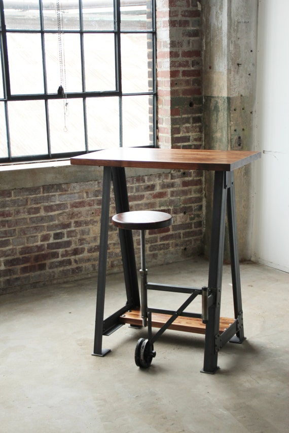 Items Similar To Walnut Stand Up Sit Down Check Out Table
