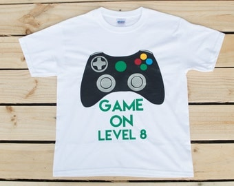 Videogame Tshirt Videogame Gift Dad Gamer Shirt Kid Gamer Shirt Gamer Kid Shirt Gamer Birthday Shirt Videogame Birthday